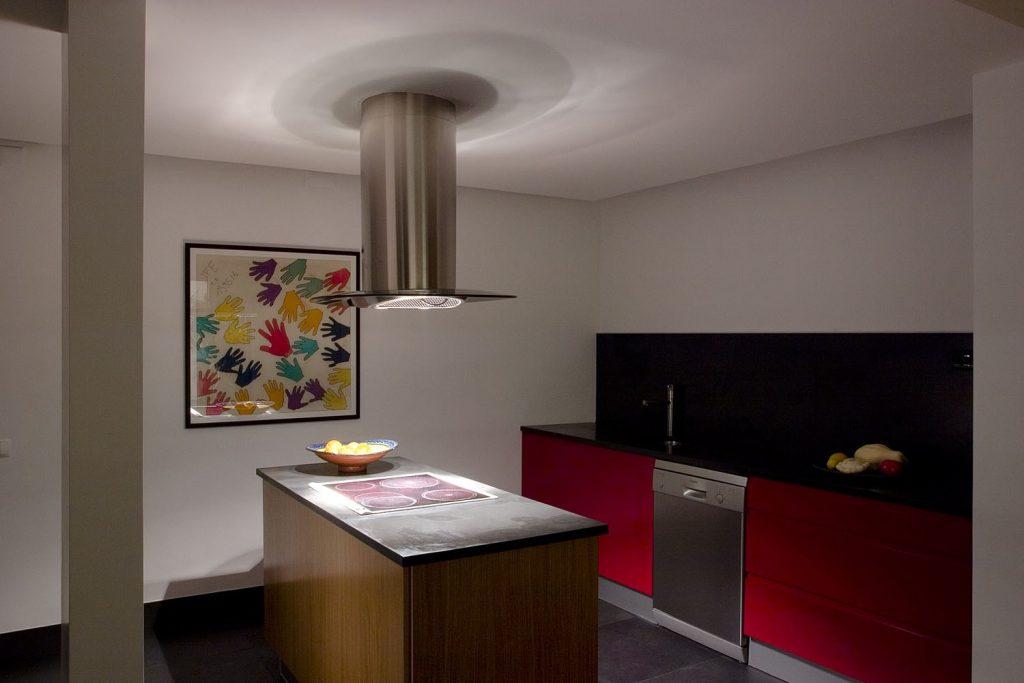 Projeto design de interiores, Cozinha com ilha, Porto (Portugal). CódigoDesign