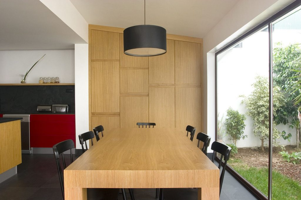 Projeto design de interiores, Cozinha com ilha, sala open space Porto (Portugal). CódigoDesign