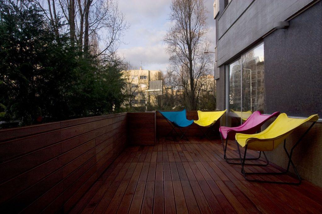 Projeto design de interiores, terraço, Porto (Portugal). CódigoDesign