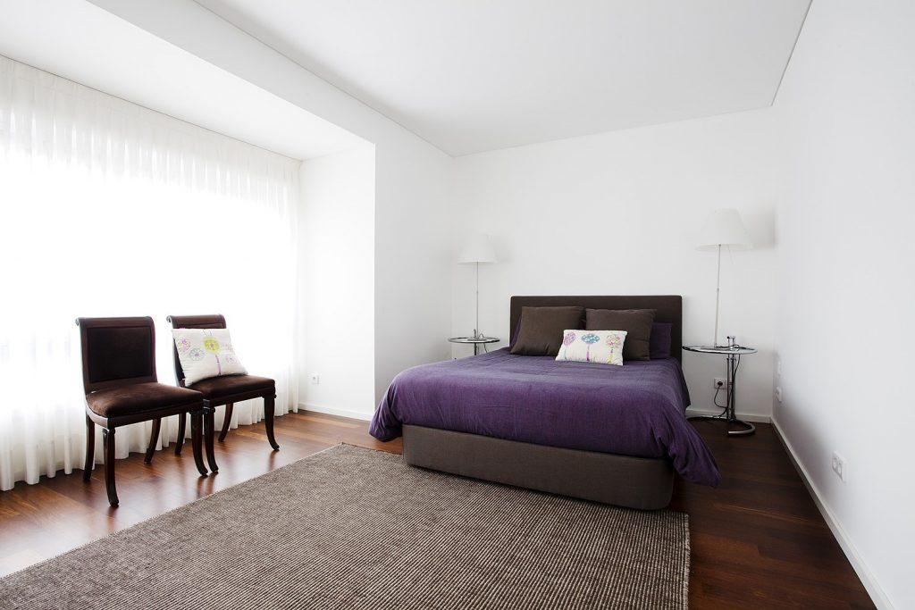 Projeto design de interiores, quarto suite, Porto (Portugal). CódigoDesign
