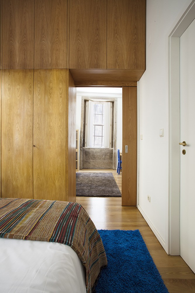 Projeto design de interiores, quarto, Porto (Portugal). CódigoDesign