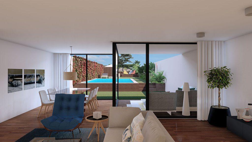 Projeto Design de Interiores e exterior, CódigoDesign, sala de estar. Guimarães Portugal