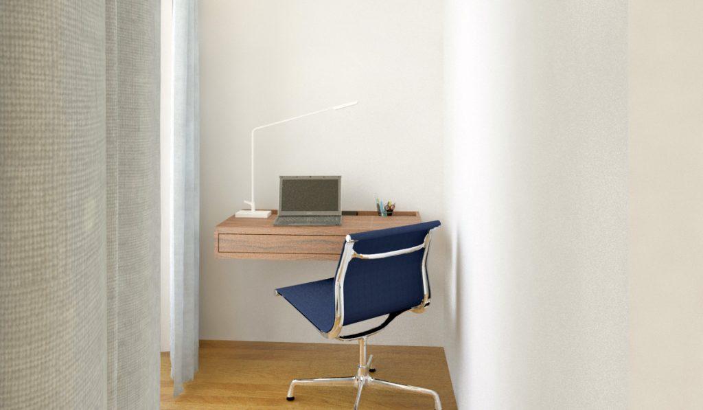 Projeto de design de interiores, secretária zona de trabalho (Portugal) CódigoDesign