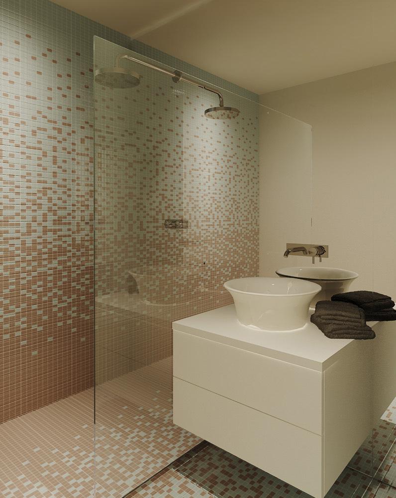 Projeto de design de interiores, casa de banho, Porto (Portugal) CódigoDesign