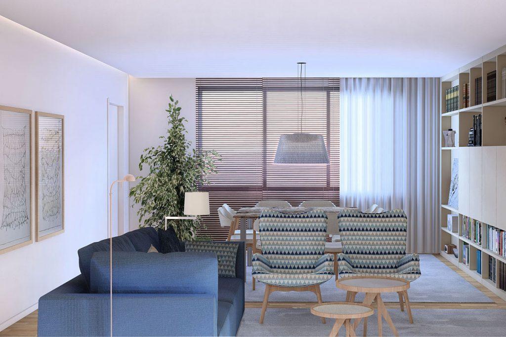 Projeto Design de Interiores, CódigoDesign, sala de estar, Arte, sofá IGO, Guimarães Portugal