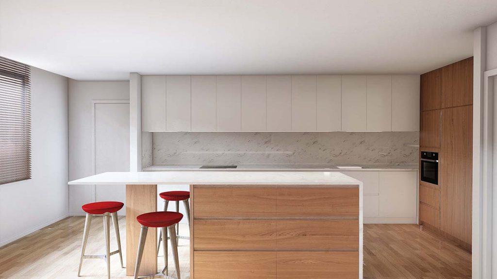 Projeto Design de Interiores, CódigoDesign, Cozinha com ilha, Guimarães Portugal