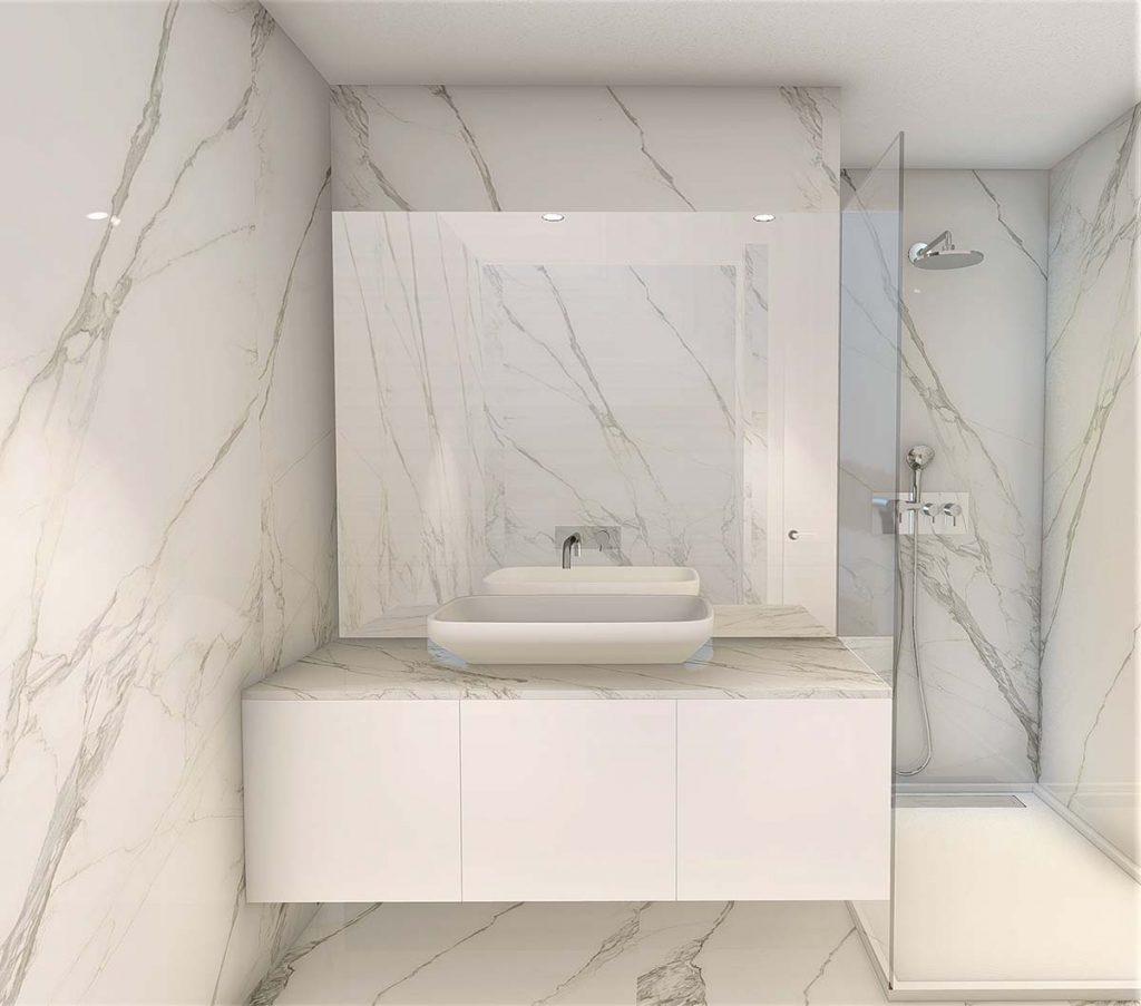 Projeto Design de Interiores, CódigoDesign, quarto suite com walking closet, Guimarães Portugal