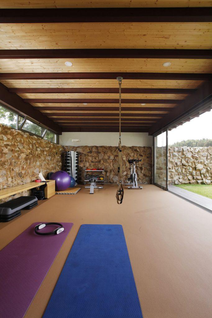 Projeto de arquitetura e design de interiores, ginásio. CódigoDesign