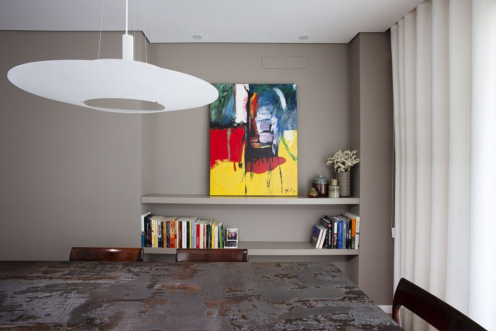 Projeto Design de Interiores, CódigoDesign, sala de jantar com candeeiro Vibia