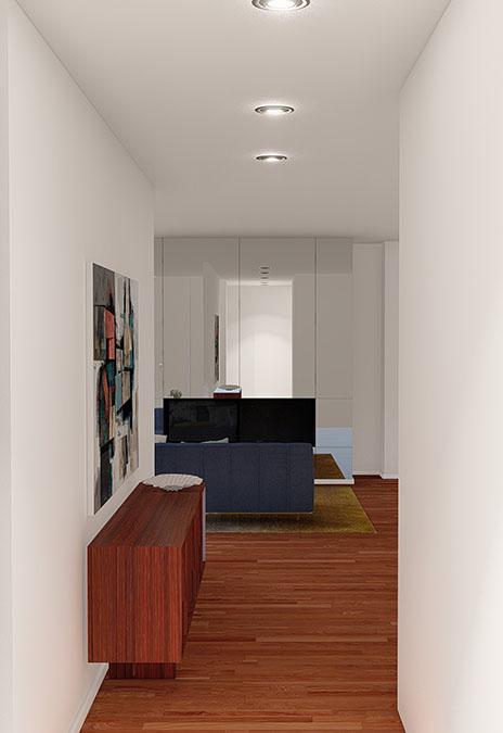 Projeto de interiores num apartamento no Porto, Foz (Portugal), Hall de entrada