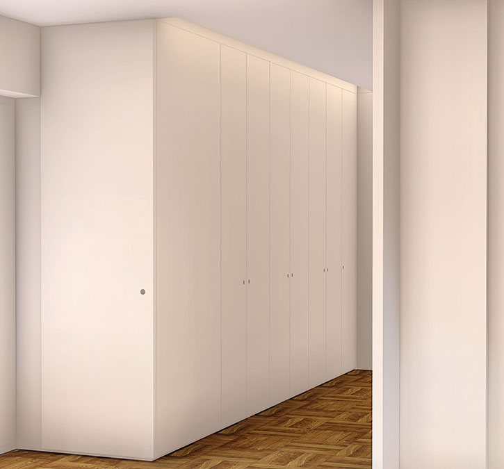 Projeto de Design de Interiores num apartamento em Braga (Portugal), Hall de entrada