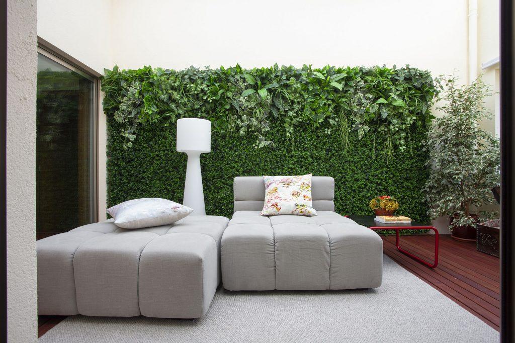 Projeto de decoração num apartamento do Porto (Portugal), área do terraço interior