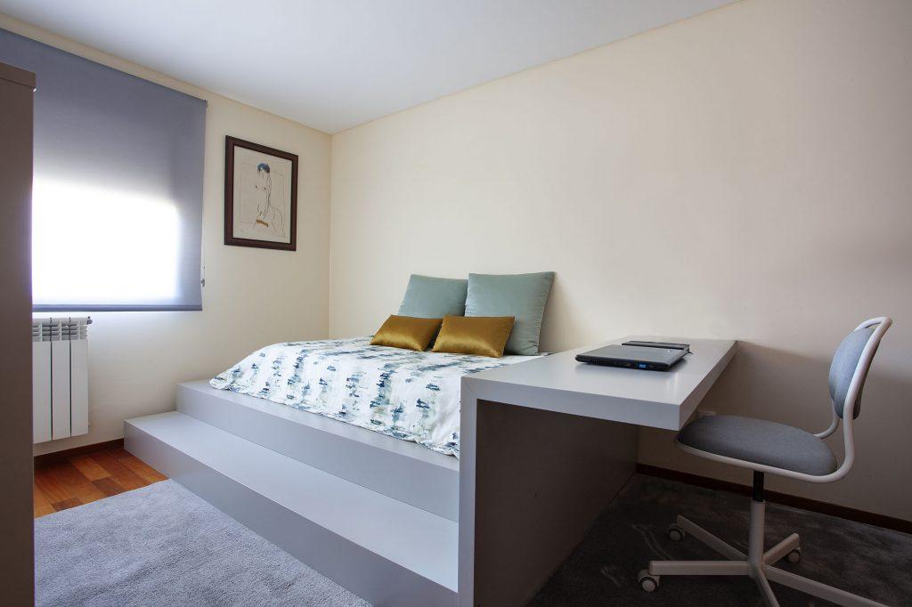 Projeto de decoração num apartamento do Porto (Portugal), quarto individual