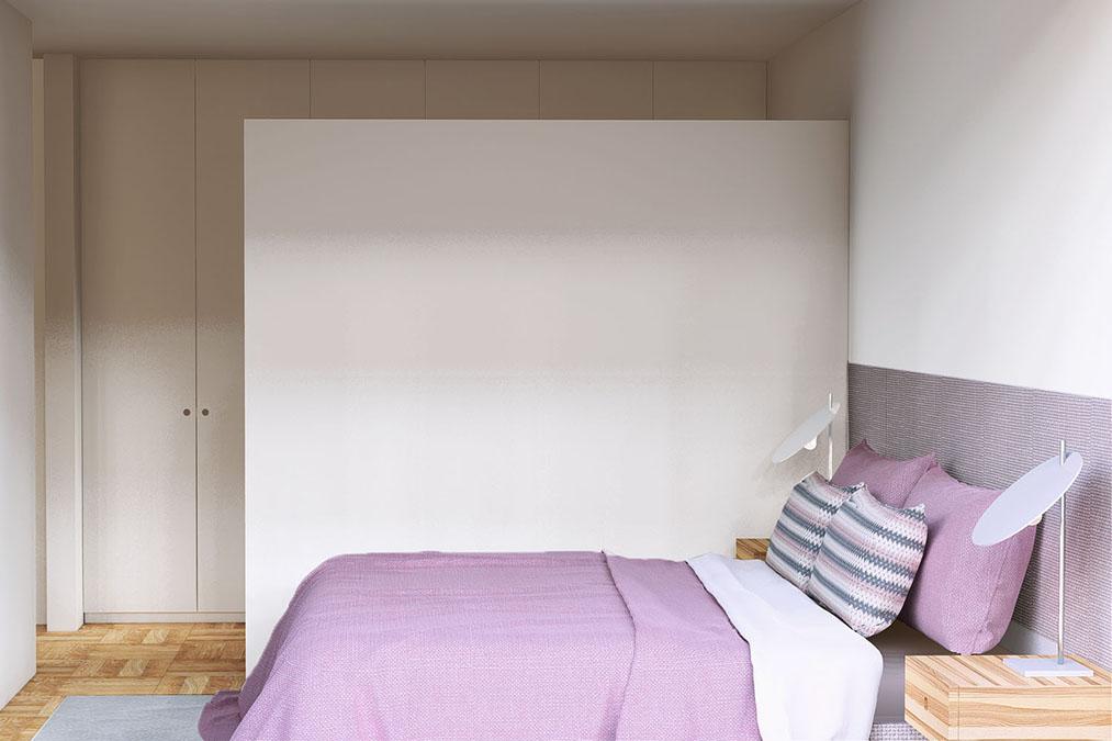 Projeto de Design de Interiores num apartamento em Braga (Portugal), Quarto suite.