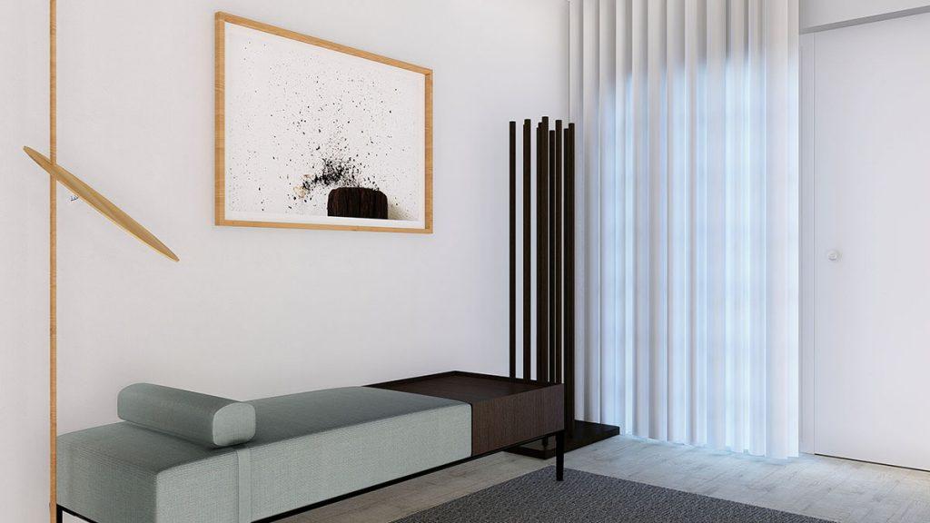 Projeto design de Interiores Hall de entrada moradia em Évora