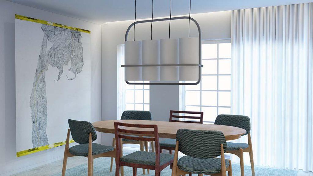 Projeto design de Interiores de uma moradia em Évora, sala de jantar, tela Nettie Burnett